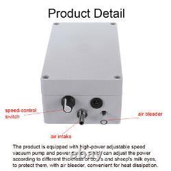 New 5L Dual Heads Electric Milking Machine Vacuum Impulse Pump CowithGoat Milker