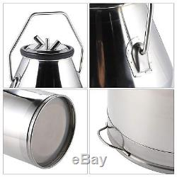 New Cow Milker Milking 25L Bucket Tank Lid with Handle-304 stainless steel