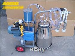 New Electric Milking Machine For Cows or Sheep 110v/220v Free Sea Shipping