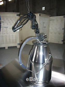New Stainless Steel-304 Cow Bucket Milker Milking Barrel Tank Machine