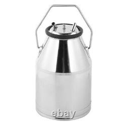 Portable 25L Dairy Cow Milker Milking Machine Bucket Tank Barrel Stainless Steel