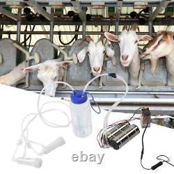 Portable 2L Farm Electric Milking Machine Goat Cow Sheep Milker Pump Bucket Tool