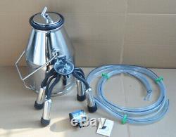 Portable Cow Milk Bucket, 304 Stainless Steel Bucket Tank Bucket Milking Machine