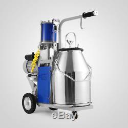 Portable Cow Milker 304 Stainless Steel Milking Bucket Tank Barrel 25L