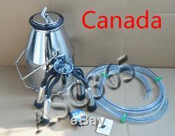 Portable Cow Milker Bucket Tank Milking Machine 304 Stainless Steel