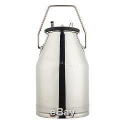 Portable Cow Milker Bucket Tank Milking Machine Barrel Adjustable Stainless Farm