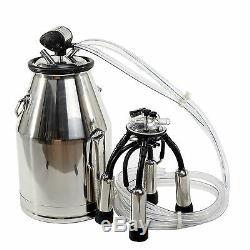Portable Cow Milker Stainless Steel Milking Bucket Tank Barrel New