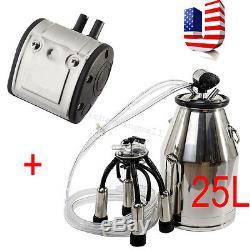 Portable Dairy Cow Milker Machine Stainless Steel Bucket Tank Barrel Warranty