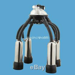Portable Dairy Cow Milking Machine Milker Bucket Tank Barrel +Pneumatic Pulsator
