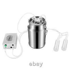 Portable Electric Milking 7L Machine Food-Grade Material For Farm Cow Cattle