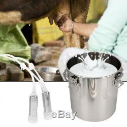 Portable Electric Milking Machine 5L Tank Cattle Cow Milker Barrel Farm Engine