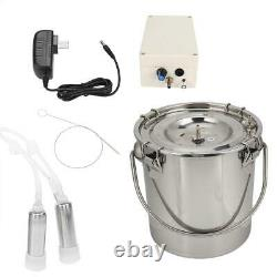 Portable Electric Milking Machine Cow Cattles Milke Adjustable Speed Pump 5L
