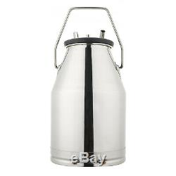 Portable Electric Milking Machine for Cows Bucket Stainless Steel Bucket Farm