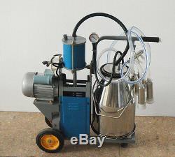 Portable Milker Electric Milking Machine Dairy Farm Cow Milking Machine 220V