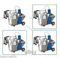 Portable Milker Electric Piston Vacuum Pump Milking Machine Farm Cows goat Milk