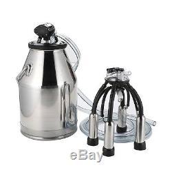 Portable Milking Machine, Dairy Cow Milker, Bucket Tank Barrel, Stainless Steel