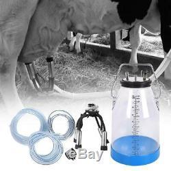 Portable Transparent Bucket Double Scale 25L Cow Milker Dairy Milking Device Kit