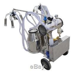 Pro Double Tank Milker Electric Milking Machine Milker Vacuum Pump For Cows Farm