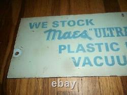 Rare Vintage MAES Farm Dairy Cow Milk & Vacuum Milker Masonite Advertising SIGN
