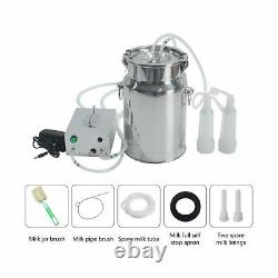 S SMAUTOP 7L Electric Milking Machine for Goat Cow Stainless Steel Vacuum Pum
