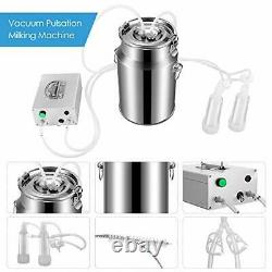 S SMAUTOP 7L Electric Milking Machine for Goat Cow Stainless Steel Vacuum Pump B