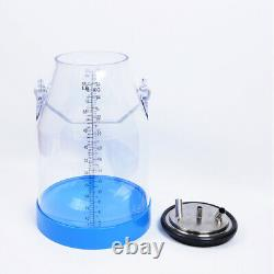 ST Portable Transparent 25L Cow Milker Dairy Milking Machine Bucket Tank Barrel