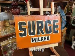 SURGE Cow Milker Tin Advertising Sign Watch Video