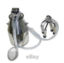 Safety Stainless Steel Cow Milker Goats Milking Machine Vacuum Pump 25L