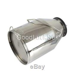 Stainless Milking Machine Portable Dairy Cow Milker Bucket Tank Barrel Cattle