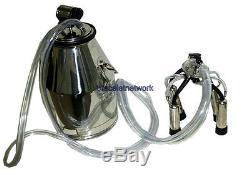 Stainless Steel Bucket Tank Bucket Barrel Milking Machine Portable Cow Milker