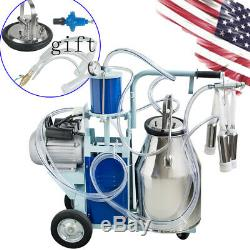 Stainless Steel Electric Milking Machine Milker Farm Goats Cows Bucket 25L +Gift