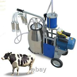 Stainless Steel Piston Milker Electric Milking Machine Cows 110V Farm New