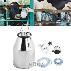 Stainless Steel Portable Cow Milker Milking Bucket Tank Container Barrel