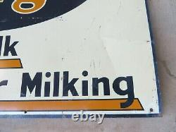 Surge Cleaner Milk Milker Milking Farm antique adv tin metal sign Cow Dairy 19