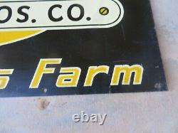The Surge Milker BABSON BROS CHICAGO Farm antique adv sign Cow Dairy 16.25x11.25