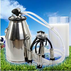 US Cow Milker Milking Bucket Tank Barrel + Free Pneumatic Pulsator Dairy Cow