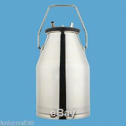 US Electric Milking Machine Farm Cows Goat Milk Bucket 2Plug 25L Stainless Steel