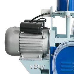 US Electric Milking Machine Milk Cattle Cow Bucket SS Vacuum Piston Pump