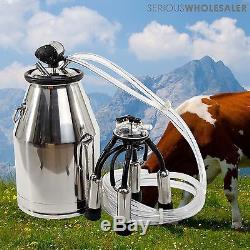 US Stock Portable Cow Milker Milking Bucket Tank Barrel 304 Stainless Steel
