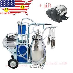 USA 25L Bucket Electric Dairy Milking Milker Machine for Cows + extra Pulsator