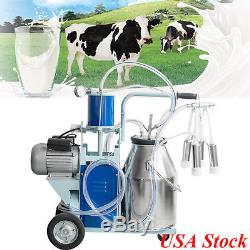 USA 25L Electric Milking Machine For Goats Cows WithBucket Adjustable Sheep 550W