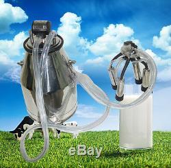 USA 304 stainless steel Safty Portable Cow Milker Milking Bucket Tank Barrel 25L