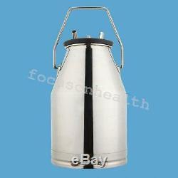 USA Electric Milking Machine Milker farm Cows Bucket 25L Stainless Steel Bucket