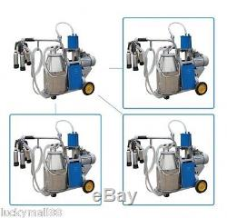 USA! Portable Milk Milker Electric Piston Vacuum Pump Milking Machine Farm Cow
