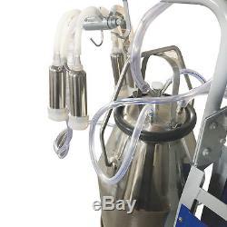 USA Portable Milker Electric Piston Pump Milking Machine Farm Cows 25L Bucket