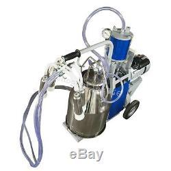 USA Seller-25L Milker Electric Piston Milking Machine adjustable For Cows Bucket