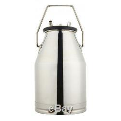 USAPortable Cow Milker Milking Bucket 304 Stainless Steel Dairy Tank 25L Milk
