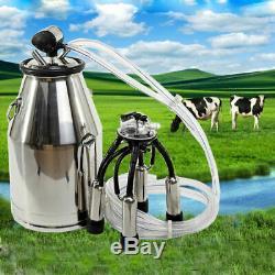 USED Portable Cow Milker Milking Machine Bucket Tank Barrel 304 Stainless Steel