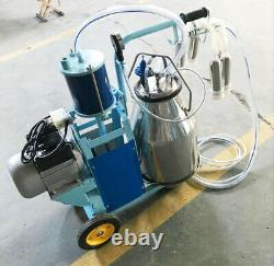 Used 110VPiston Milker Electric Milking Machine Stainless Steel Bucket For Cows