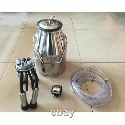 V0 Portable Farm Cow Milking Milker Machine Bucket Tank Container Barrel Set